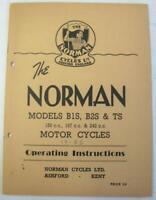 NORMAN B1S B2S TS Motorcycle Owners Handbook 1950s