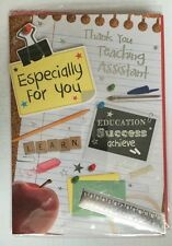 Thank You Teaching Assistant  3D Greeting Card End Of Term/year
