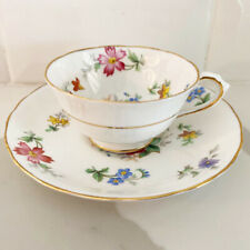 "Tuscan Fine English Bone China ""Bouquet"" Demitasse Espresso Cup & Saucer Set"