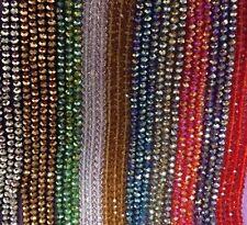 LOTTO di 10 Stringhe (1000 Perline) 6x4mm colore misto CRYSTAL BEADS