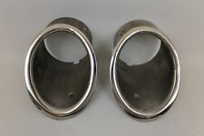 1964-65 Corvette exhaust bezels, New reproduction pair