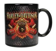 Harley-Davidson Firefighter Original Ceramic Coffee Mug, 11 oz. Black CM126581