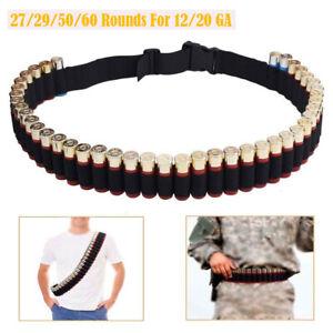 27/29/50/60 Shotgun Shell Bandolier Belt Tactical Cartridge Belt Bullet Shells