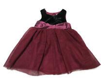 Baby Girl Dress 3-6 MTHS Ruby Red Black velvet Tutu BNWT