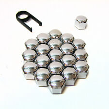 17mm Chrome Alloy Car Wheel Nut Bolt Covers Caps Universal For Any Car New