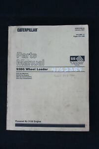 Genuine Caterpillar Parts Manual 938G Wheel Loader Volume II