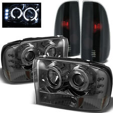 For 99-04 F250/F350 SD Projector Headlights + Mystery Black/Smoked Tail Lights