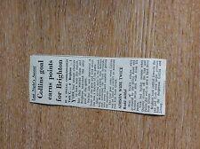 75-5 ephemera article 1965 football report york 0 brighton 1
