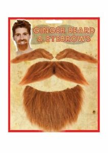 Ginger Beard and Eyebrows- fancy dress costume