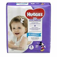 HUGGIES Little Movers Leak Lock Diapers, Size 4 24 ea (Pack of 2)
