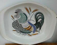 Vintage Poole Pottery Lucullus Cockerel Roasting Serving Dish Robert Jefferson