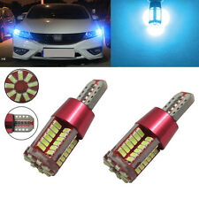 2xT10 SMD57 LED Rear Side Bulb Canbus Error Free White parking for Hyundai i20
