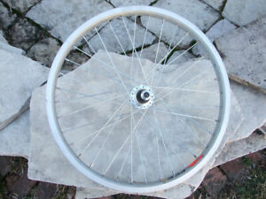 "Y303 X Rim and Hub for 20"" BMX Bicycle, 36 Spoke, Rear Wheel 3/8"" Axle, Silver"