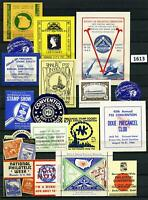 Dealer Dave Cinderella Stamps BEAUTIFUL GROUP OF POSTER STAMPS, LABELS (1613)