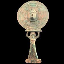 Rare Ancient Roman Bronze Period Mirror - 200-400 Ad (1)