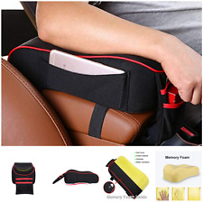 Car Center Armrest Memory Foam Cushion with Phone Holder Storage Bag Universal