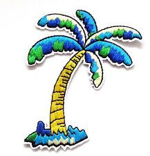 Coconut Tree Iron On Patch- Embroidered Palm Beach Applique Badge Crafts Sew