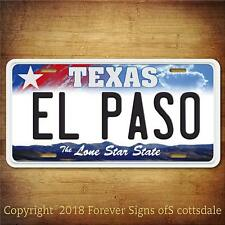 El Paso Texas City/College Aluminum Vanity License Plate