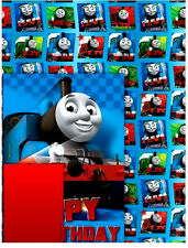 Official Thomas the Tank Engine + Friends BIRTHDAY CARD + GIFT WRAP SHEET x 1