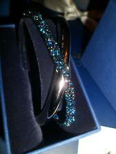 BNIB SWAROVSKI CRYSTALDUST Blue Cross Bracelet Medium  £79.00