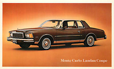 1979 CHEVROLET MONTE CARLO LANDAU COUPE AUTOMOBILE ADV. CHROME POSTCARD