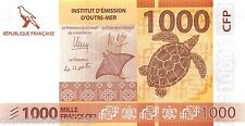 France Pacific Territories 1000 Francs 2014 Unc pn 6