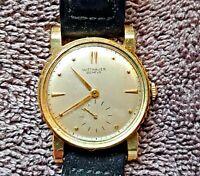 Vintage Wittnauer- 1950's- 14k Yellow Gold- 17 jewels - Men's Dress watch