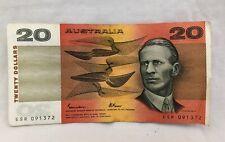 $20 dollar Johnston Fraser austrlian note 1991