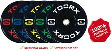 Toorx Disco Bumper Training da 5 a 25kg foro 50mm ghisa bilancieri pesi olimpici