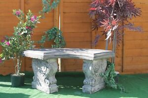 CURVED BENCH SEAT STONE GARDEN PATIO FEATURE