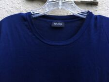 """HANRO TSHIRT TOP 40"""" Chest Excellent  Navy Blue --Small?"""