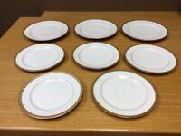 8 Haviland LIMOGES White w/Gold Trim Plates