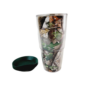 Tervis Tumbler 24 oz Real Tree Camouflage with Green Lid Hot Cold Travel Mug