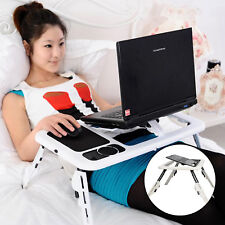 Portable Folding Laptop Desk Adjustable Computer Table Stand Tray For Beds Sofa