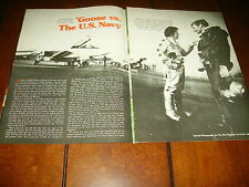 MONGOOSE TOM McEWEN FUNNY CAR vs. NAVY F-14 JET  ***ORIGINAL 1975  ARTICLE***
