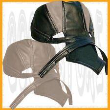 Skull Cap 2 Lot New Leather HeadWrap Motorcycle Doo Rag Du Cover Biker