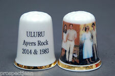ULURU Ayers Rock William,Kate & Charles,Diana 2014 &1983 China Thimble B/133