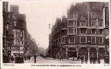 Barbican near Farringdon. Manchester Hotel &c # 91 by W.& K. Railway Station.