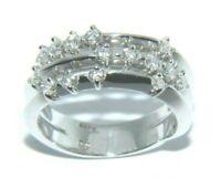 Ladies womens 18ct 18carat white gold & diamond ring uk size N