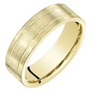 Men's 14k Yellow Gold Wedding Ring, 6mm, Comfort Fit Ring Sizes 8 to 14