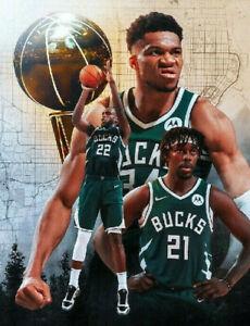 2021 NBA Champions, Milwaukee Bucks photograph 23 - glossy A4 print