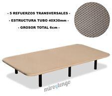 Base tapizada 105x200 tejido 3D + 6 patas. Nacional. Calidad a precio de somier