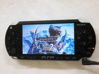 V2594 Sony PSP 1000 console Black Handheld system Japan w/battery English