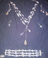 Genuine Swarovski Crystal Necklace Bracelet & Earring Set for Avon