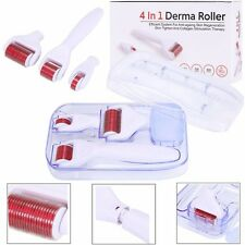 4In1 0.5/1.0/1.5mm Titanium Derma Roller Micro Needle Therapy Skin Care Recovery