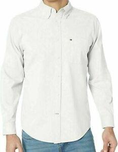 Tommy Hilfiger Mens Shirt Light White Size XL Capote Button Down $59- 123