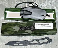Tactical Warrior Tanto Full Tang Emergency Outdoor Survival Gear Boot Knife