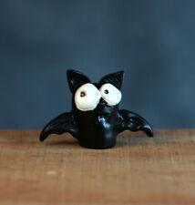 "Halloween Miniature Figurine Bat Janelle Berryman Fall Decor Fairy Garden 1.5"""