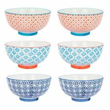 Patterned Rice Dessert Cereal Soup Bowls Porcelain Crockery 3 Designs 114mm x6