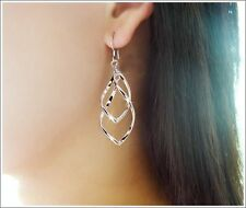 STUNNING PAIR OF SILVER PLATED DROP EARRINGS 3535